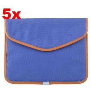 Neewer (5x) Dark Blue Canvas Bag Sleeve Case for iPad