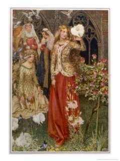 Guinevere and Her Ladies In  Waiting in the Golden Days Giclee Print