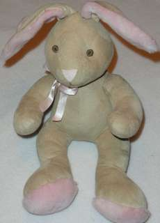 Soft The Childrens Place TCP Tan Suede Feel Stuffed Plush Bunny Rabbit