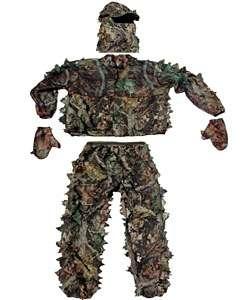 Five Piece Classic Leafy Wear 3D Green Camo Suit