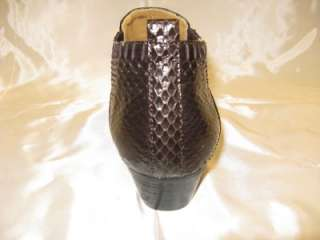 Item Georgio Brutini Brown Snake Skin Plain toe Demi Boots.