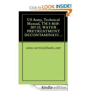 Technical Manual, TM 5 4610 207 12, WATER PRETREATMENT DECONTAMINATION