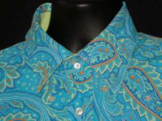 Mens L TOMMY HILFIGER PAISLEY FUNKY LONG SLEEVE DRESS SHIRT
