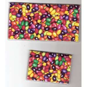 Checkbook Cover Debit Set Jellybeans Dark