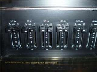 RARE VINTAGE BSR PROFESSIONAL STEREO FREQUENCY EQUALIZER MODEL FEW III
