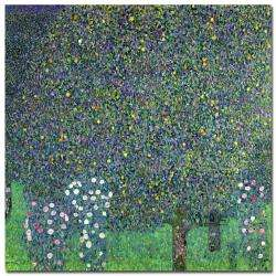 Gustav Klimt Roses Under the Trees 1905 Canvas Art