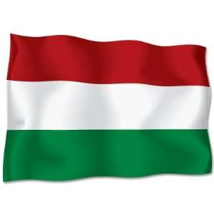 HUNGARY Flag car bumper sticker decal 6 x 4