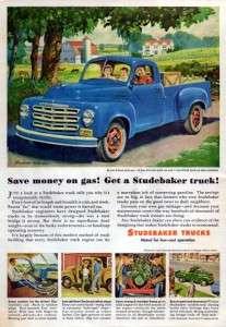 1951 Studebaker 2R5 Pickup Truck Original Color Ad