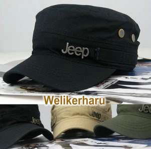Jeep Military STYLE FLAT Army CAP Vintage HAT 4 color