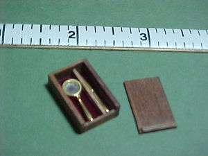 Magnifying Glass/Letter Opener/Case   Dollhouse Mini