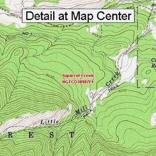 USGS Topographic Quadrangle Map   Squirrel Creek, Colorado