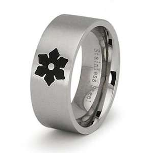 Stainless Steel Womens Flower Ring   Size 7 West Coast
