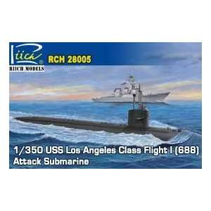 Riich Models 1/350 USS Los Angeles Class Flight I (688