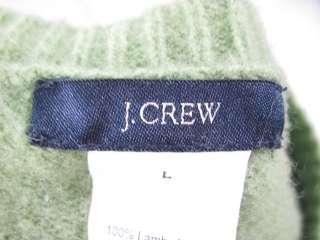 CREW Green Blue Argyle Wool Sweater Sz L