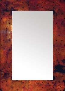 hammered copper mirrors rectangular wall mirror frame