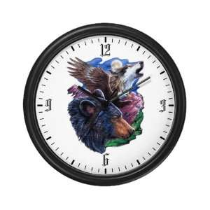 Wall Clock Bear Bald Eagle and Wolf: Everything Else