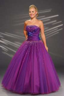 2012 A Line Stock Purple Ball Gown Quinceanera Dresses Prom Ball