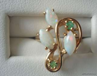 Lot of 7 14K & 10K GOLD RINGS Ruby OPAL Diamond JADE NOT SCRAP 15.7