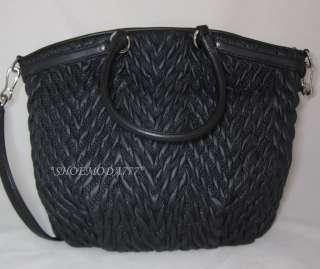398 COACH Madison Nylon Lindsey Quilted Large Bag Purse Tote Handbag