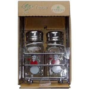 Christmas Tree & Snowman Salt & Pepper Shaker Set: Kitchen