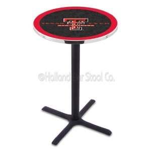 Texas Tech Red Raiders (L211) 42 Tall Logo Pub Table by Holland Bar