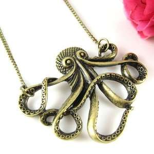 NEW UNIQUE VINTAGE STYLE OCTOPUS PENDANT NECKLACE 130