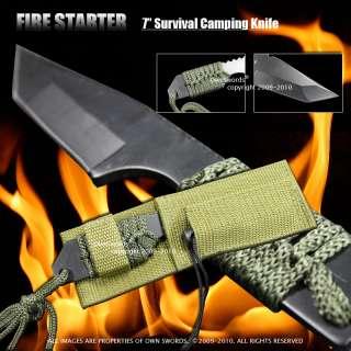 FULL TANG Fire Starter Flint Hunting Camping Knife