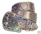 Western Belt Buckle Stud Black, Western Rhinestone belts items in