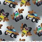 Monster Truck 100% Cotton Flannel Fabric 42 Wide Sold by the Yard
