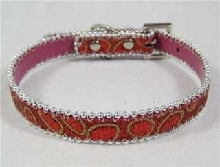 Shinning Cute Small dog collars Pet Collars Dog Collar 4 Colors PU