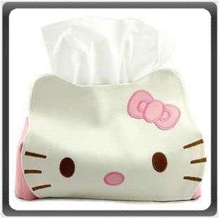 Hello Kitty Leather Tissue Napkin Paper Box Case Holder