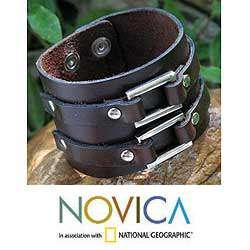 Synchrony Mens Leather wristband Bracelet (Thailand)