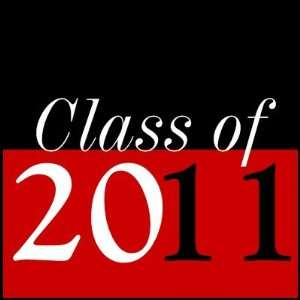 Class of 2011 Graduation Red Black Postage Stamps Office
