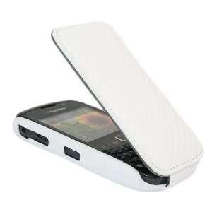iTALKonline PREMIUM LEATHER WHITE Clip On Flip Case/Cover