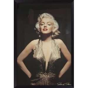 Marilyn Monroe  Gold Dress  Framed Poster