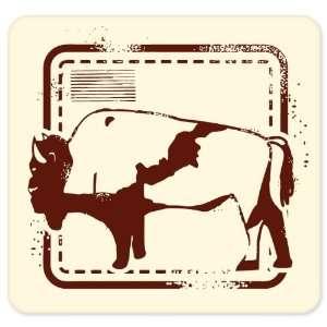 Buffalo hunting vinyl window bumper sticker 4 in x 4 in