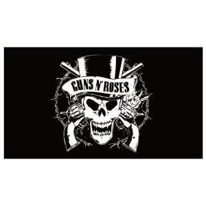 GUNS N ROSES (Black & White Minimalist Art Logo)