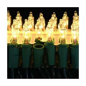 Set of 50 Dura Lit Clear Mini Christmas Lights   Green