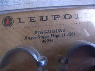 LEUPOLD SUPER HIGH RINGS #49954 for RUGER BASE and 1 Scope NEW in