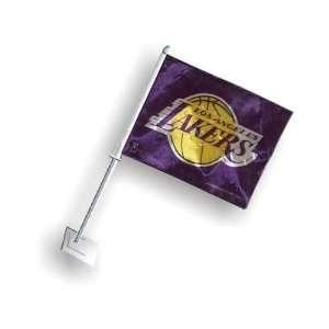 Los Angeles Lakers   NBA Car Flag (Purple) Patio, Lawn
