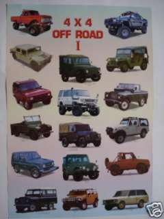 JEEP OFF ROAD I POSTER   LAND CRUISER & ROVER, HUMMER