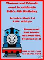 Set of 5 Thomas the Train Birthday Invitations