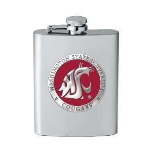 Washington State University Cougars Stainless Steel Flask