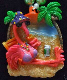 Pink Flamingo Bathing Suit Beach Mask Mardi Gras Beads