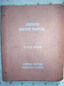 1922 1958 Johnson Outboard Motor Service Manual HUGE G
