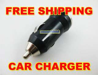 New USB Power Adapter Mini car charger cell phone Black