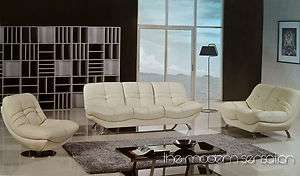 Modern design leather sofa loveseat swivel chair set couch home living