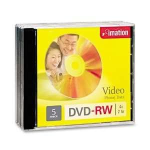 imation Products   imation   DVD RW Discs, 4.7GB, 4x, w