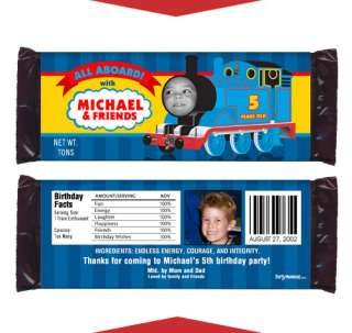 THOMAS THE TANK Birthday Party Favors CANDY WRAPPERS