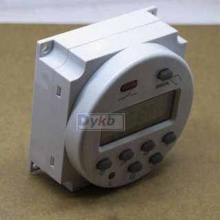 DC 12V LCD Digital Power Programmable Timer Time switch Relay 16A